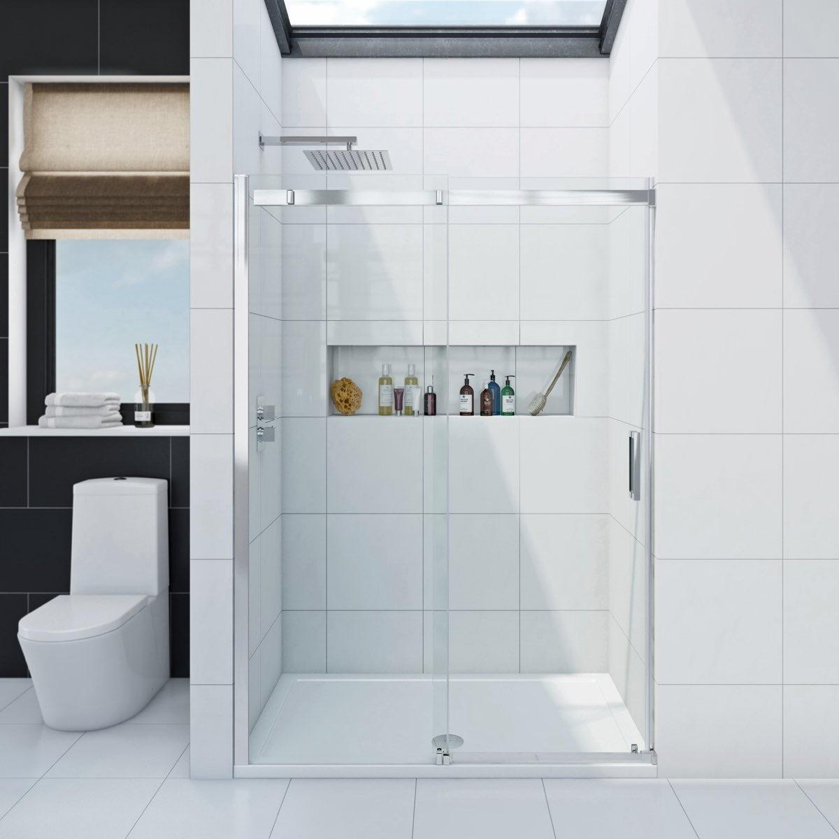 Infiniti 8mm sliding shower door offer pack for 1200 shower door 8mm glass