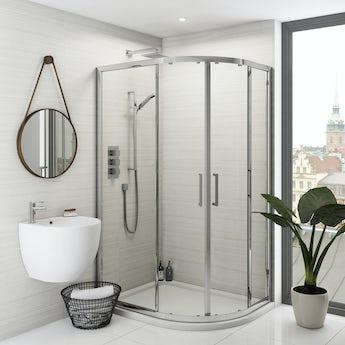 Mode Olins premium 8mm easy clean offset quadrant shower enclosure