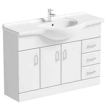 Sienna white vanity unit with basin 1200mm