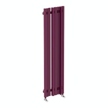 Terma Sherwood purple violet vertical radiator 1300 x 330