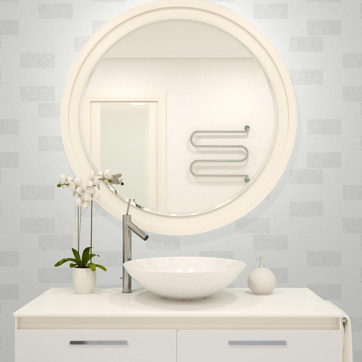 Bathroom Tile Wallpaper Bathroom And Kitchen Wallpaper Victoriaplumcom