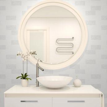 Fine Decor ceramica subway glitter tile white