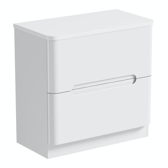 Mode Planet white vanity drawer unit and countertop 800mm