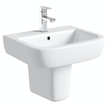 Mode Positano semi pedestal basin