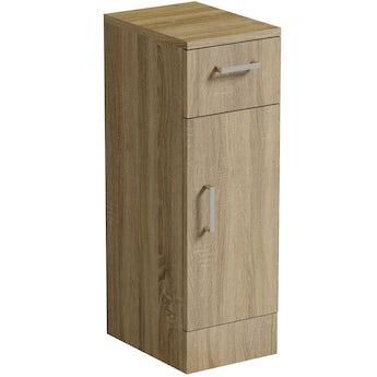 Sienna oak storage unit