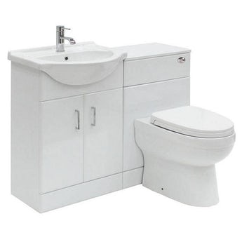 Sienna white 1040 combination unit with Energy back to wall toilet