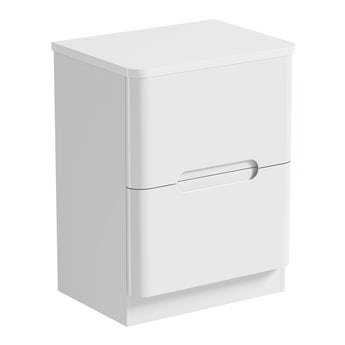 Mode Planet white vanity drawer unit and countertop 600mm