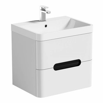 Mode Planet select essen wall hung vanity drawer unit and basin 600mm
