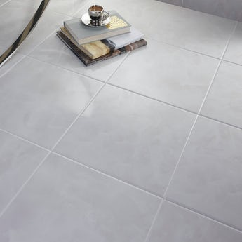 Polar white gloss tile 331mm x 331mm