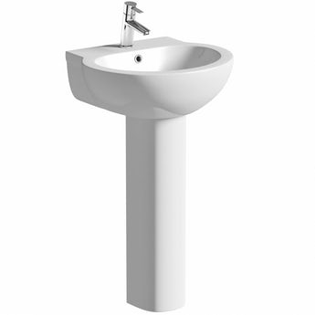 Madison 1 tap hole full pedestal basin 540mm