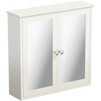 The Bath Co. Camberley ivory wall mounted mirror cabinet