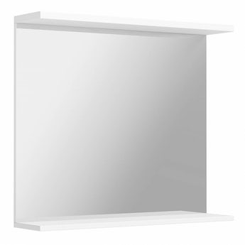 Florence white bathroom mirror 850mm