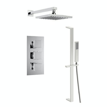 Mode Cubik thermostatic triple shower valve complete shower set