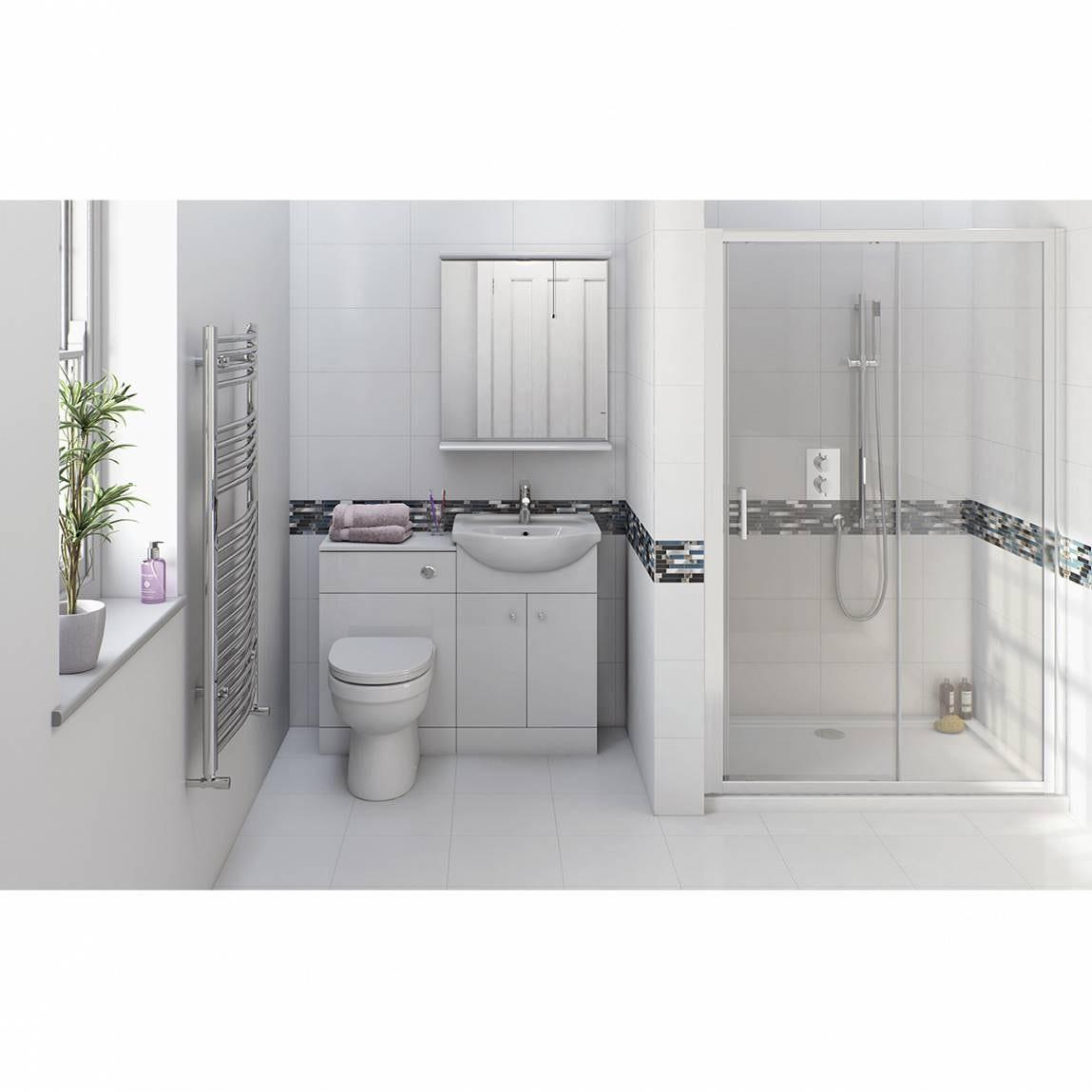 Prague energy vanity unit with sliding shower door 1200 for 1200 slider shower door