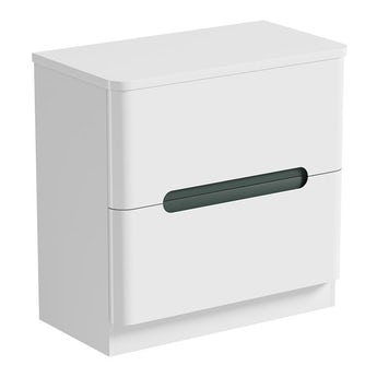 Mode Planet select slate vanity drawer unit and countertop 800mm