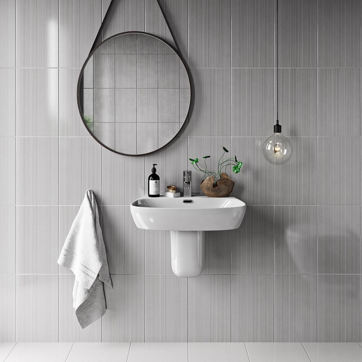 Linear Grey Gloss Tile Victoriaplum