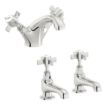 Hampshire basin mixer and bath tap pack