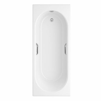 Ealing single ended bath 1700 x 700 with hand grips offer pack
