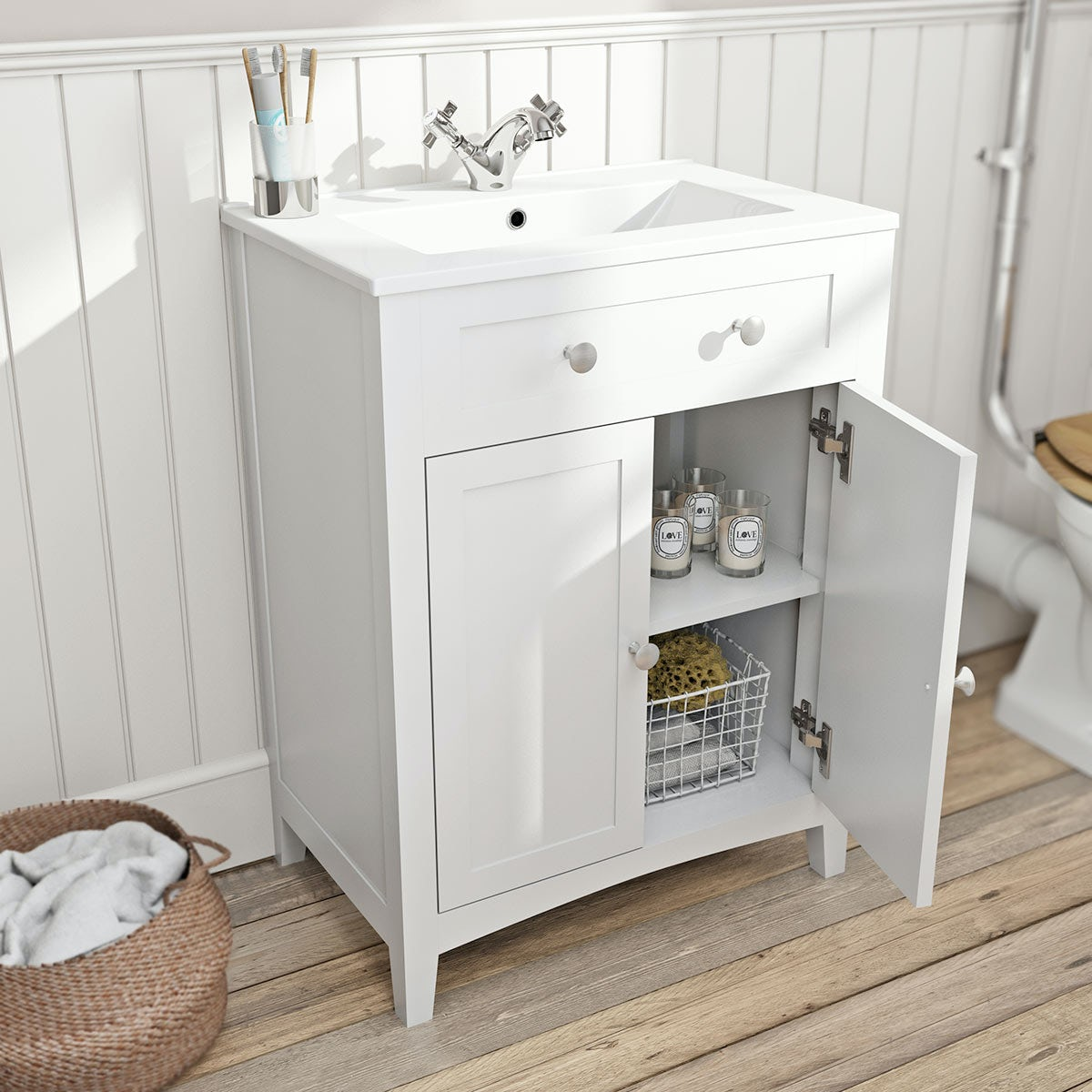 bathroom vanity unit with sink the bath co camberley white vanity unit with basin 600mm 22529