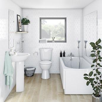 Clarity straight bath suite