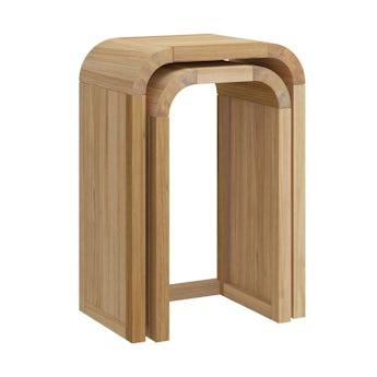 Reeves Oscar oak nest of tall tables