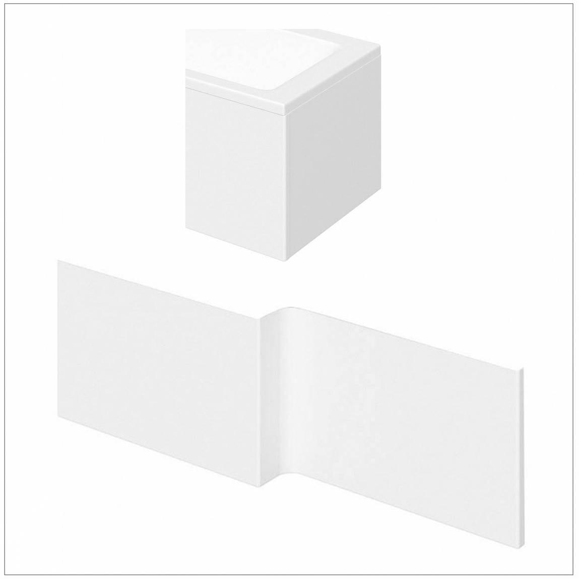 l shaped shower bath acrylic panel pack 1500mm 1500mm left hand l shaped modern bathroom bath white