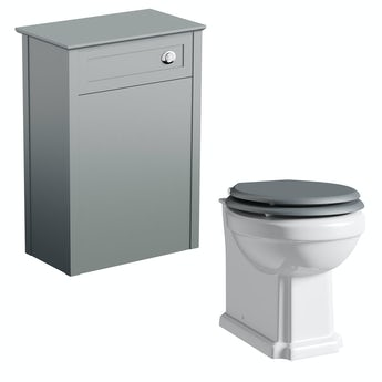 The Bath Co. Winchester back to wall toilet inc grey soft close seat and unit