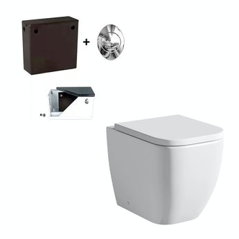 Mode Positano back to wall toilet and concealed cistern