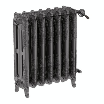 Terma Oxford raw metal freestanding cast iron radiator 710 x 606