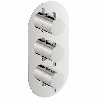Matrix oval triple thermostatic shower valve with diverter offer pack