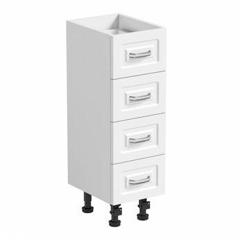 Florence white multi drawer unit 250mm