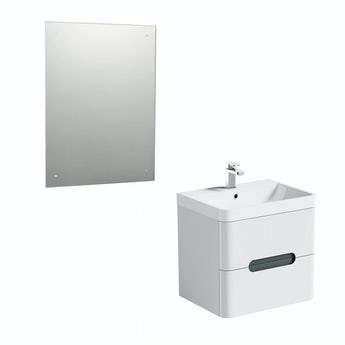 Mode Planet select slate wall hung vanity unit 600mm and mirror offer