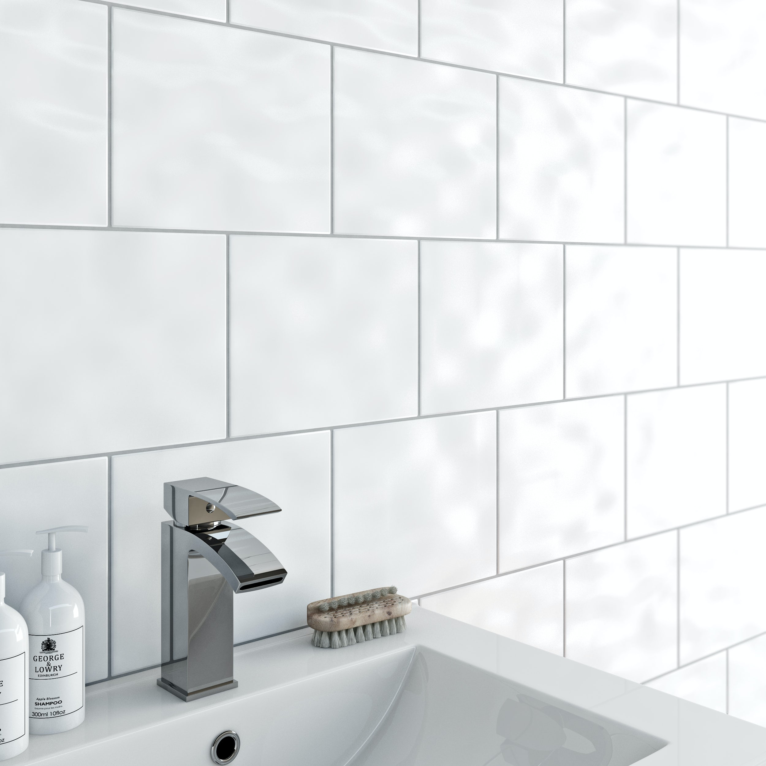book of white bathroom tiles 300 x 600 in uk by olivia