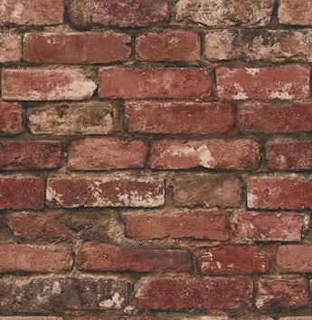 Fine Decor rustic brick sidewall red