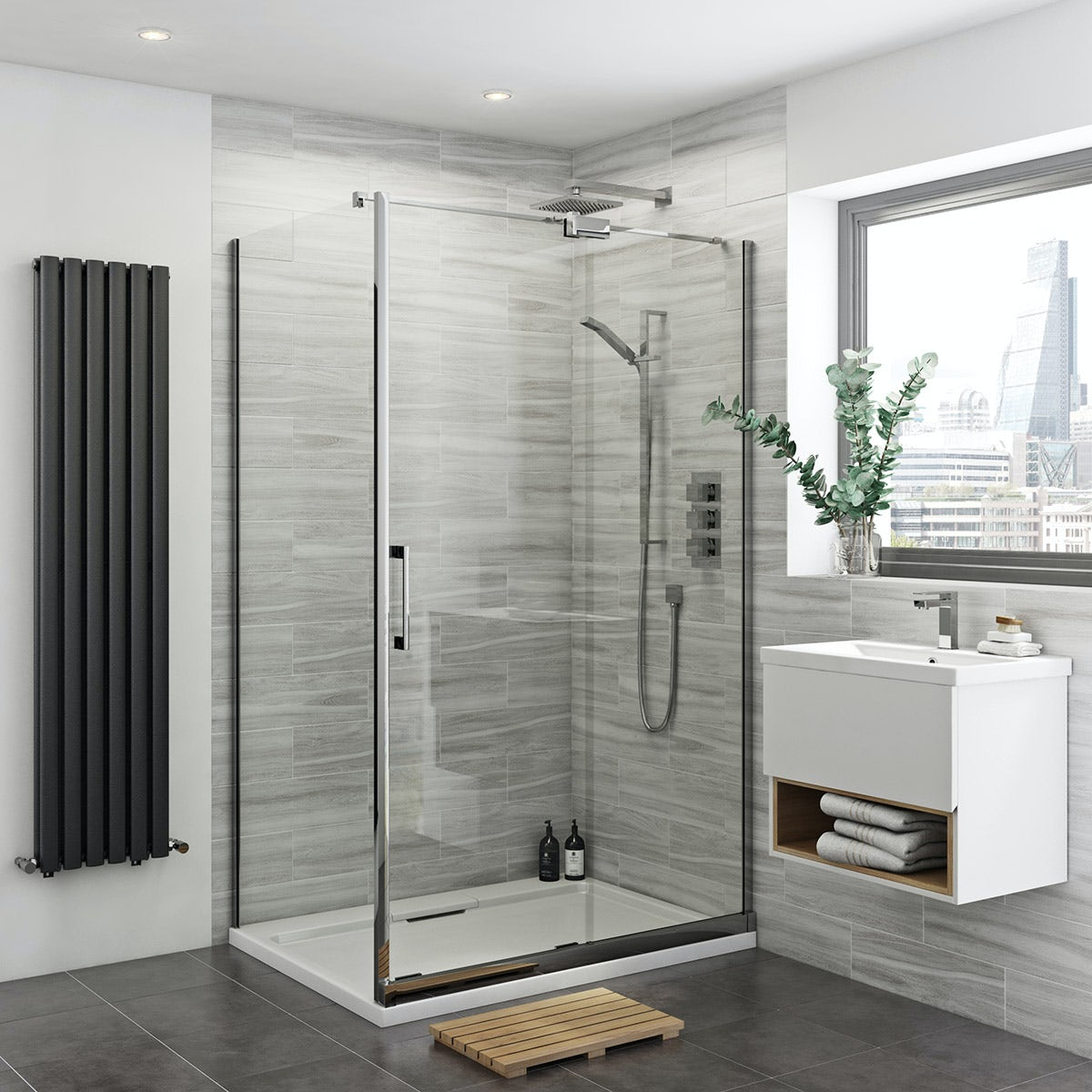 Mode glaser premium 8mm easy clean rh shower enclosure for Bathroom w c meaning