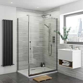 Mode Glaser premium 8mm easy clean right handed shower enclosure