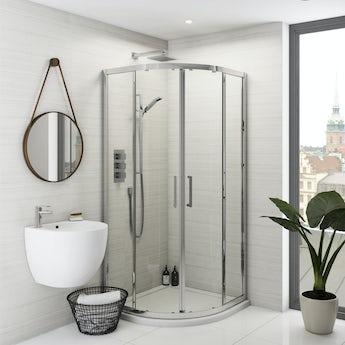 Mode Olins premium 8mm easy clean quadrant shower enclosure