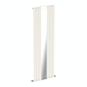 Mode Lois white vertical radiator with mirror 1840 x 620