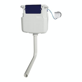 Pneumatic concealed toilet cistern with square push button
