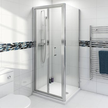 4mm bifold shower enclosure with Simplite shower tray