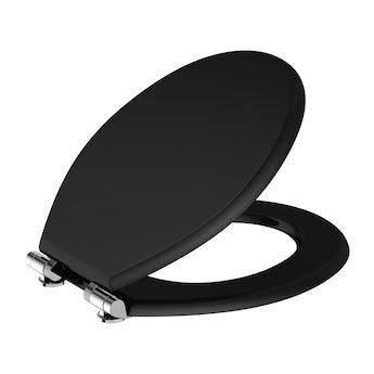 Universal soft close wooden seat matte black