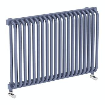 Terma Delfin pigeon blue horizontal radiator 540 x 820