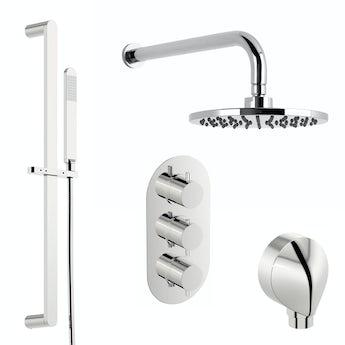 Mode Matrix thermostatic triple shower valve shower set