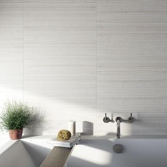 Mirage grey gloss tile 298mm x 598mm
