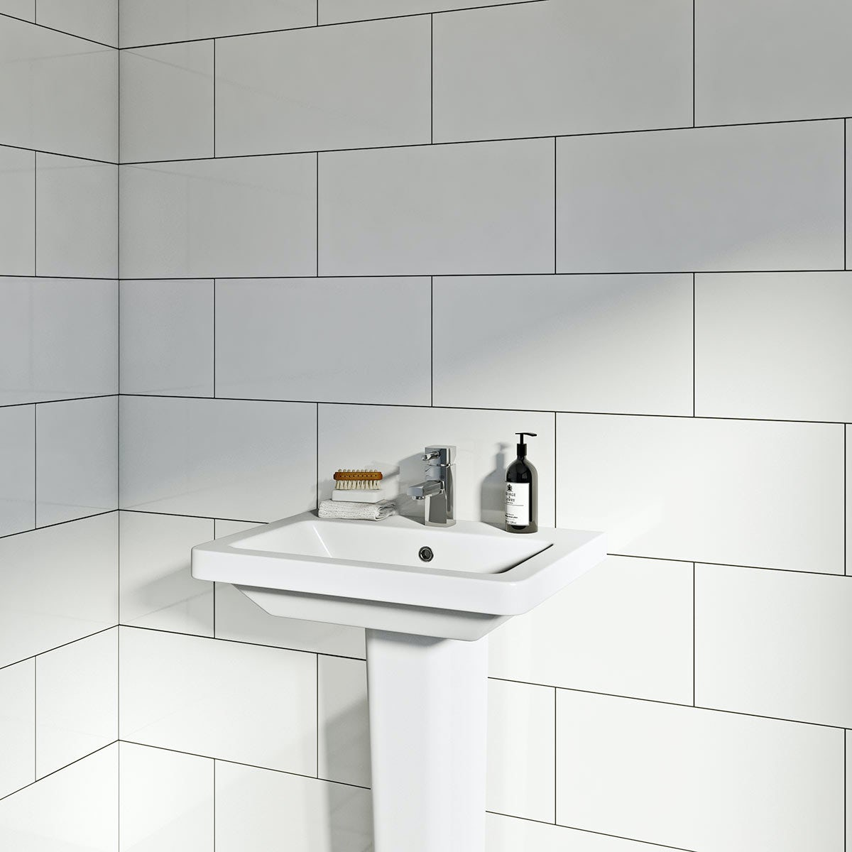 Pure White Gloss Tile 248mm x 498mm | VictoriaPlum.com
