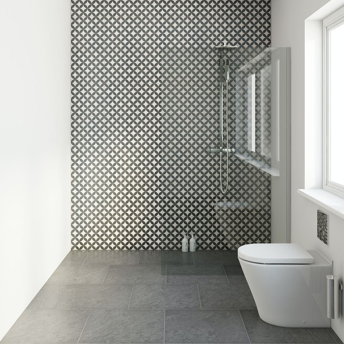 Circle Feature Matt Tile 331mm X 331mm Victoriaplum Com