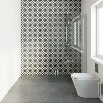 Circle feature matt tile 331mm x 331mm