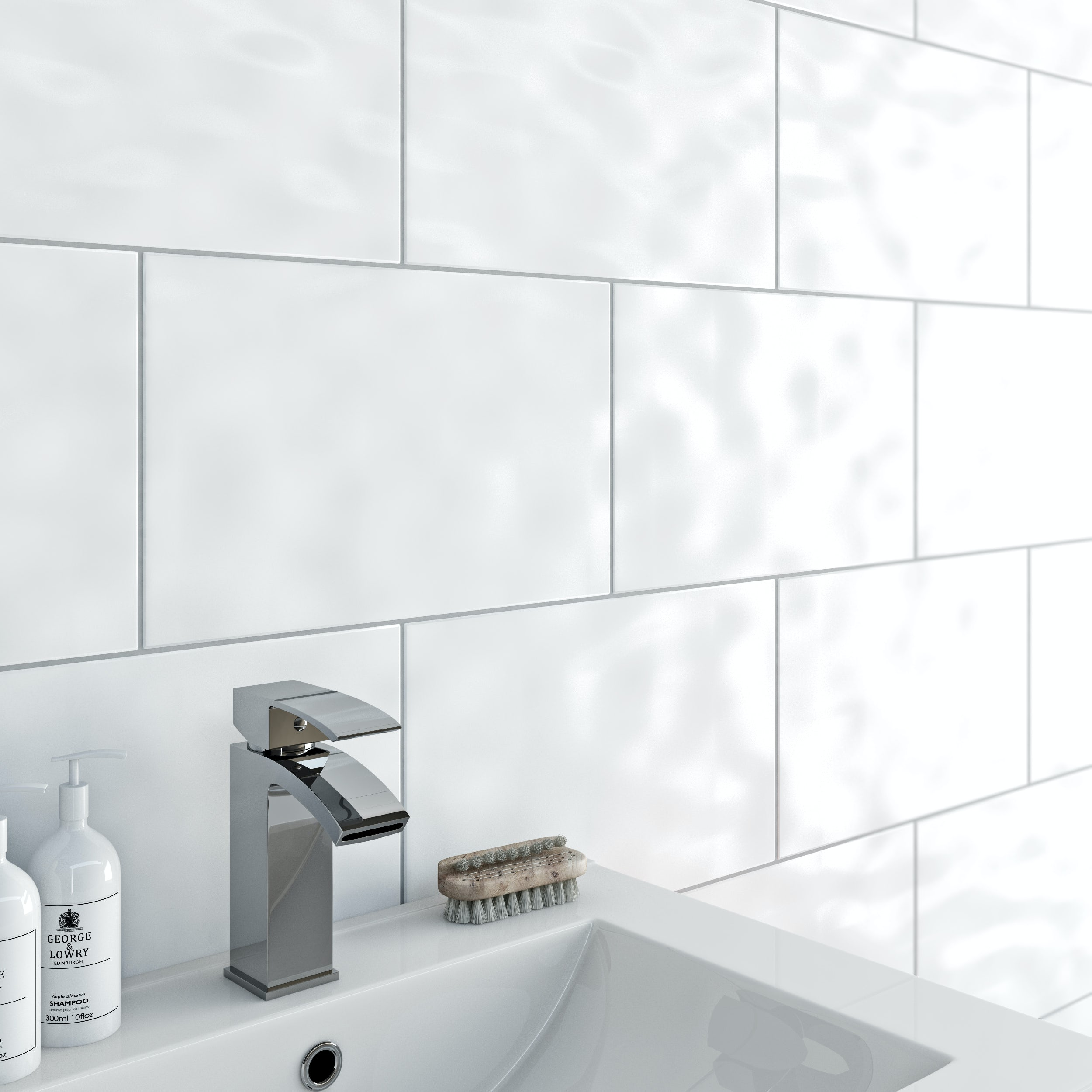 Merveilleux Brilliant Crystal White Diamond Polished Porcelain Internal Tiles 300 X 600
