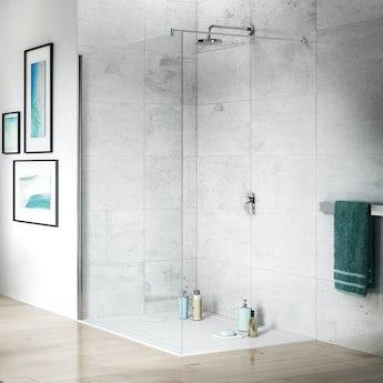 Jacuzzi Essentials wetroom glass panel 1400mm