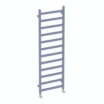 Terma Simple pigeon blue heated towel rail 1440 x 500